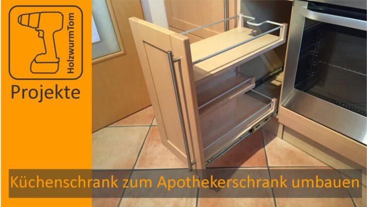 Medium Size of Kchenschrank Zum Apothekerschrank Umbauen Diy Kitchen Drawer Küche Wohnzimmer Apothekerschrank Halbhoch