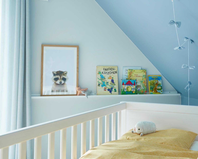 Full Size of Wandgestaltung Kinderzimmer Jungen Alpina Bietet Wohngesunde Fr Das Babyzimmer Regal Weiß Sofa Regale Wohnzimmer Wandgestaltung Kinderzimmer Jungen