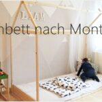 Diy Bodenbett Hausbett Nach Montessori I Bauanleitung Tipps Wohnzimmer Kinderbett Diy