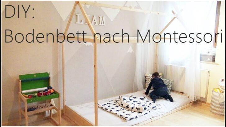 Medium Size of Diy Bodenbett Hausbett Nach Montessori I Bauanleitung Tipps Wohnzimmer Kinderbett Diy