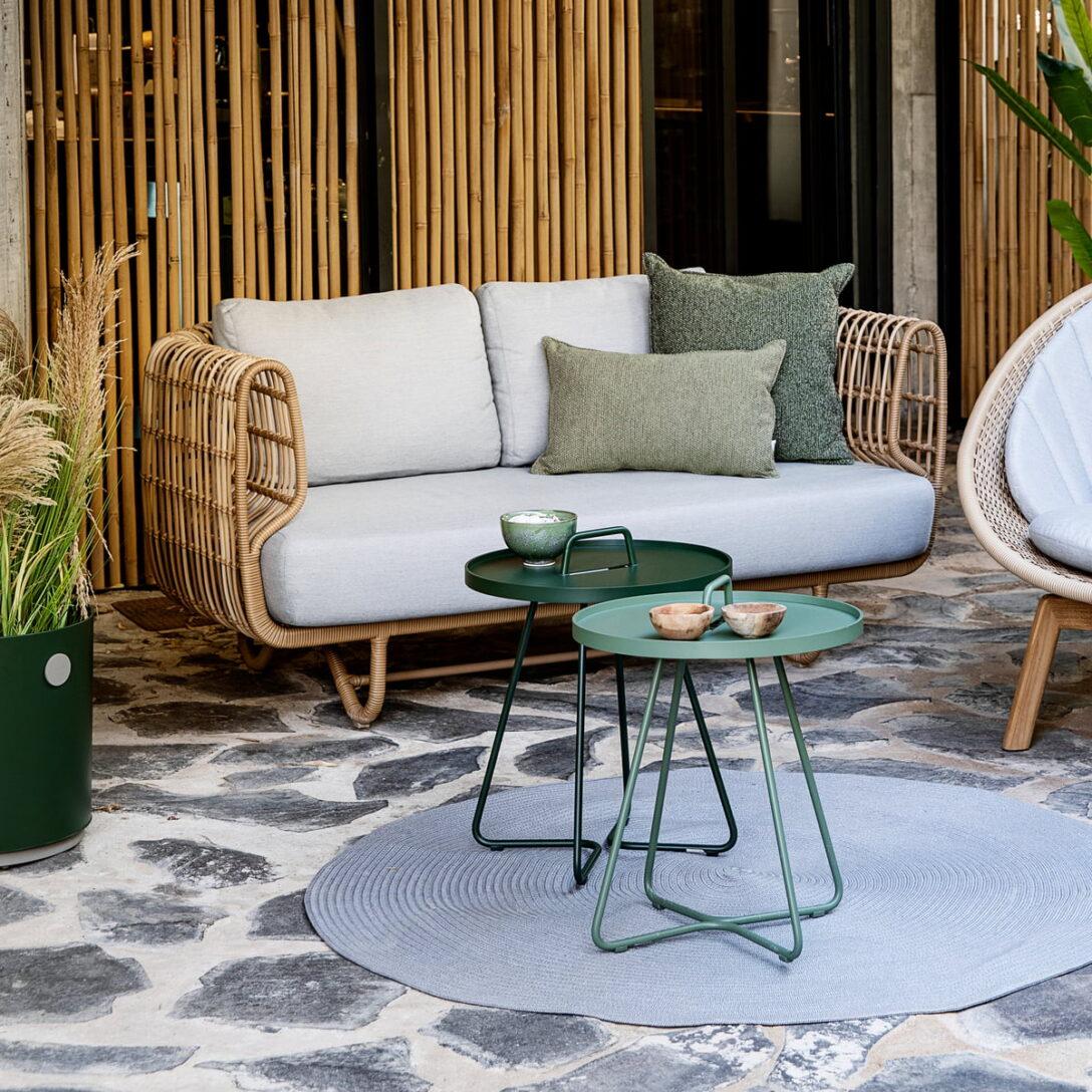 Large Size of Couch Terrasse Nest 2 Sitzer Sofa Outdoor Von Cane Line Connox Wohnzimmer Couch Terrasse