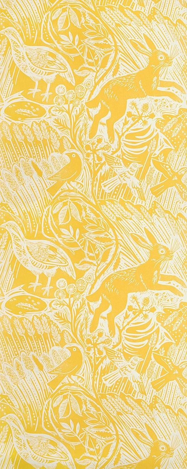Full Size of Tapeten Wohnzimmer Ideen 2020 Eine Gelbe Tapete Im Schlaf Oder Wirkt Sehr Erfrischend Hängeleuchte Schlafzimmer Tischlampe Stehlampen Sofa Kleines Sessel Wohnzimmer Tapeten Wohnzimmer Ideen 2020