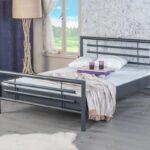 Metallbett 100x200 Bed Bolola 1000 Einzelbett Metall Grau Mbel Letz Ihr Online Bett Weiß Betten Wohnzimmer Metallbett 100x200