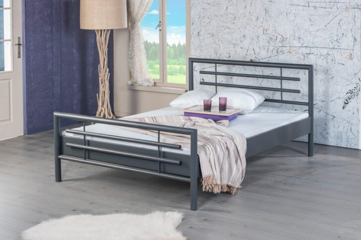 Medium Size of Metallbett 100x200 Bed Bolola 1000 Einzelbett Metall Grau Mbel Letz Ihr Online Bett Weiß Betten Wohnzimmer Metallbett 100x200