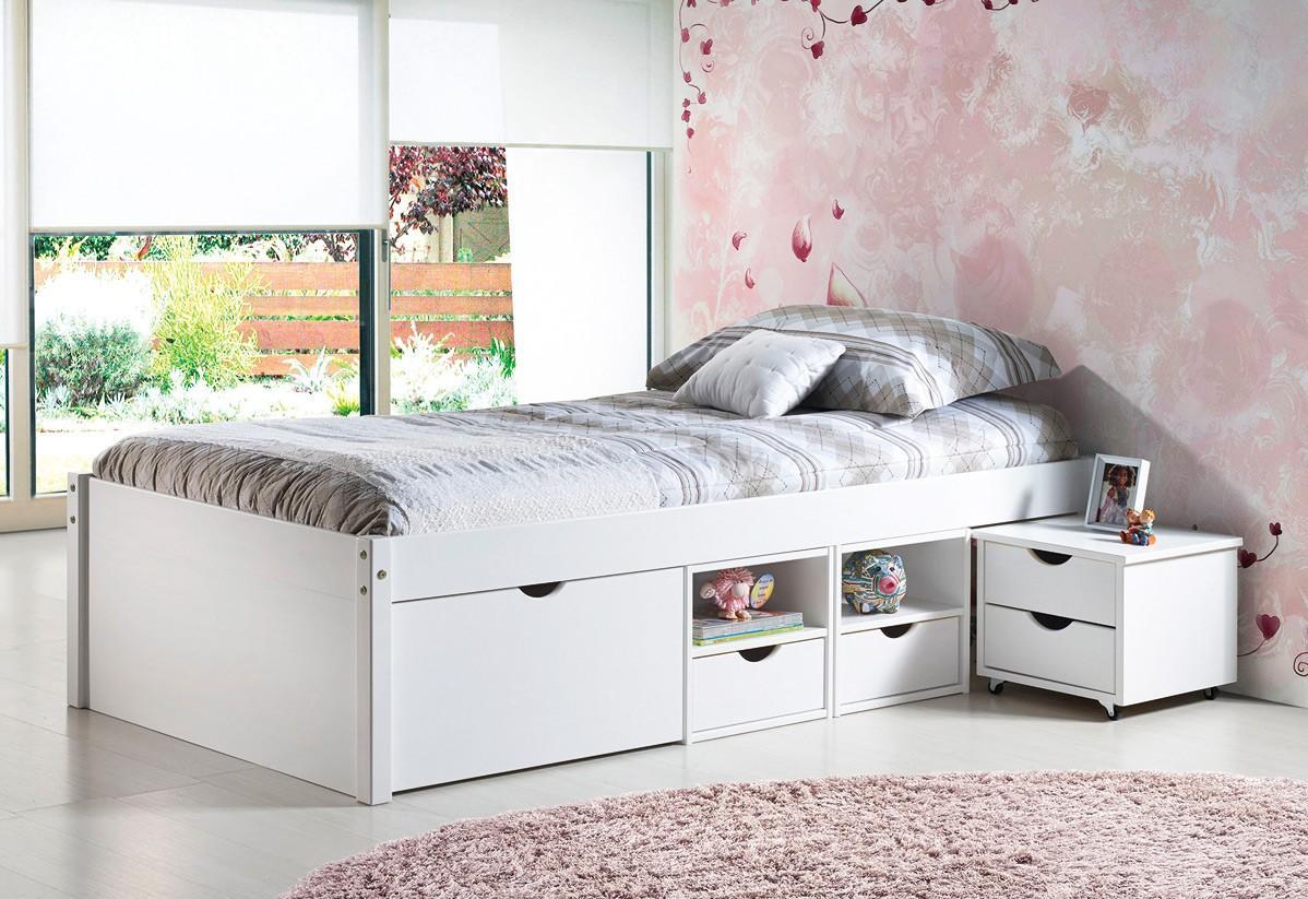 Full Size of Bett 90x200 Weiß Weißes Mit Lattenrost Schubladen Betten Bettkasten Kiefer Und Matratze Wohnzimmer Jugendbett 90x200