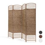 Paravent Bambus Wohnzimmer Paravent Bambus Sichtschutz Raumteiler Trennwand Raumtrenner Spanische Garten Bett