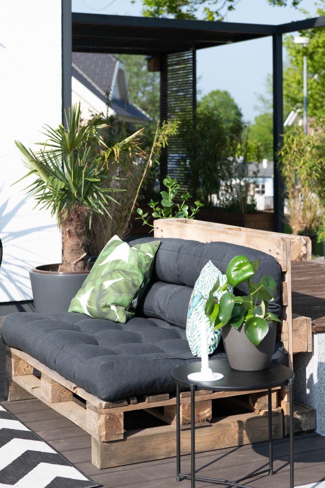 Large Size of Couch Terrasse Palettensofa Bilder Ideen Wohnzimmer Couch Terrasse