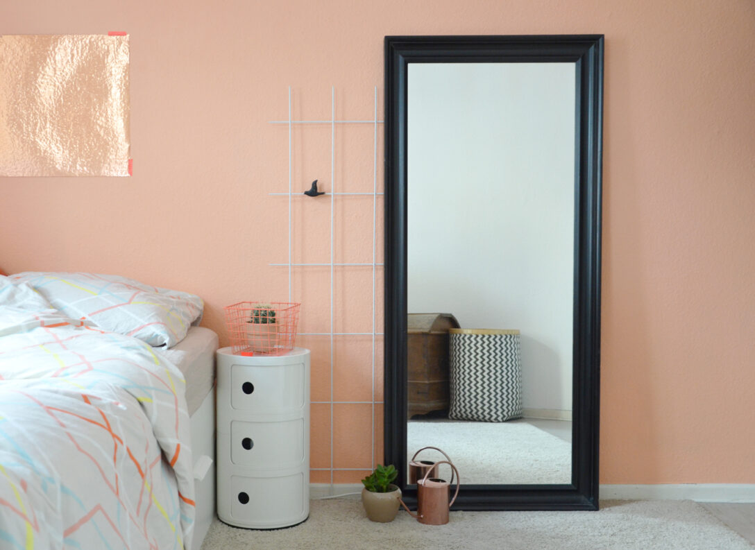 Large Size of Wandfarbe Rosa Eine Wand In Der Farbe Von Pfirsich Sorbet Interior Küche Wohnzimmer Wandfarbe Rosa