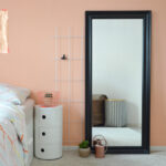 Wandfarbe Rosa Eine Wand In Der Farbe Von Pfirsich Sorbet Interior Küche Wohnzimmer Wandfarbe Rosa