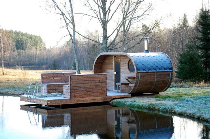 Medium Size of Gartensauna Bausatz Ovale Fasssauna Mit Holzofen Selbstverstndlich Sind Wohnzimmer Gartensauna Bausatz