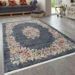 Teppich Wohnzimmer Modern Kurzflor Mehrfarbig Muster Floral Led Deckenleuchte Für Küche Schrank Deckenleuchten Fototapete Deko Tisch Modernes Bett Tischlampe Wohnzimmer Teppich Wohnzimmer Modern