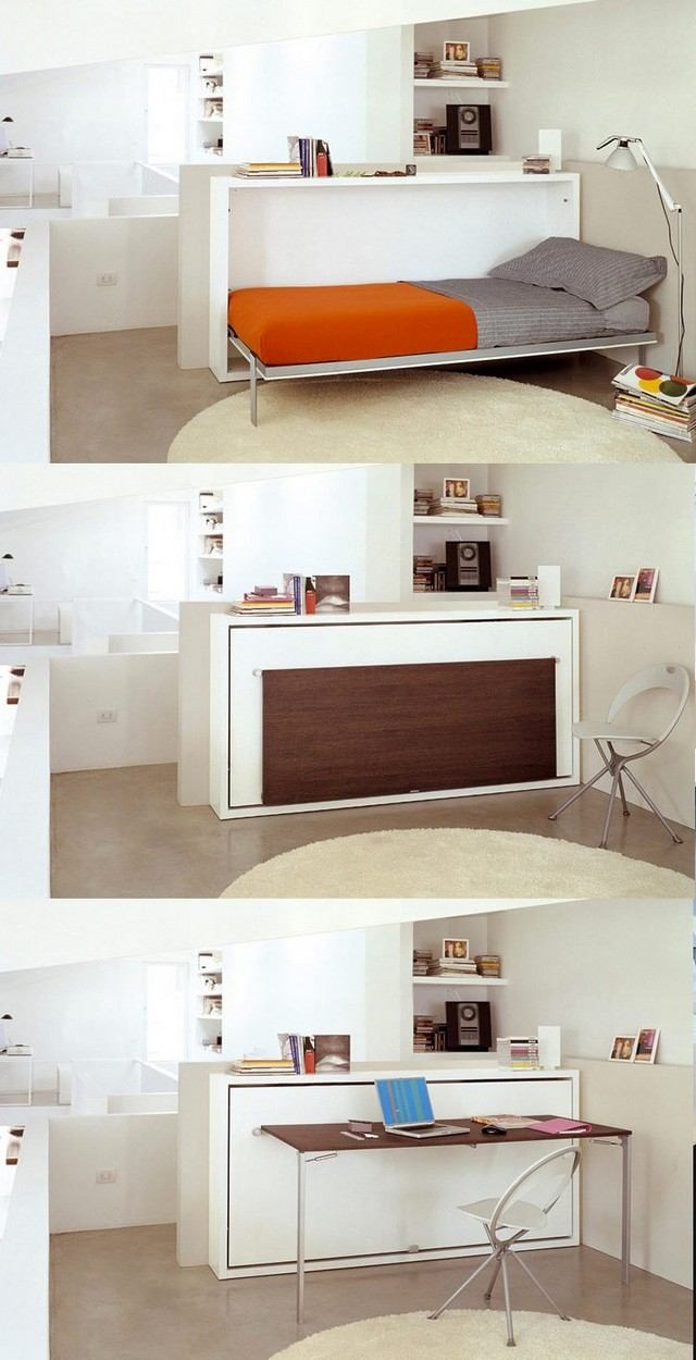 Full Size of Bett Klappbar Wand 30 Einrichtungsideen Fr Schlafzimmer Den Kleinen Raum Optimal Nutzen Bette Floor Wandbelag Küche Betten 90x200 160x200 Mit Lattenrost Wohnzimmer Bett Klappbar Wand