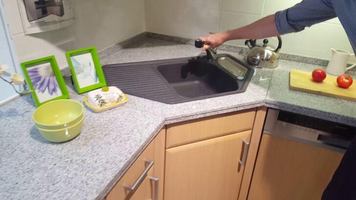 Medium Size of Elegante U Kche In Buchefarben Matt Modell 2055 Youtube Modulküche Ikea Küche Selbst Zusammenstellen Mit Kochinsel Lieferzeit Hochschrank Tapete Aufbewahrung Wohnzimmer Küche Mit Eckspüle