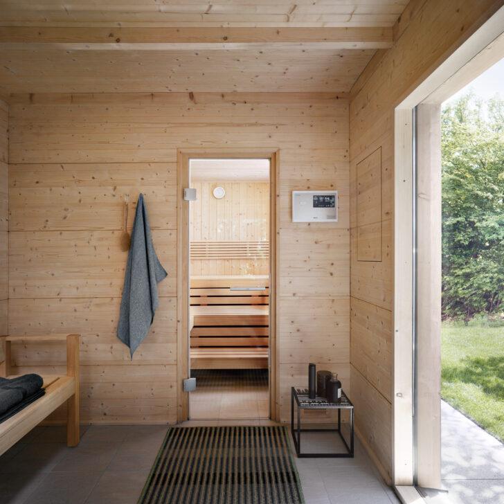 Medium Size of  Wohnzimmer Außensauna Wandaufbau