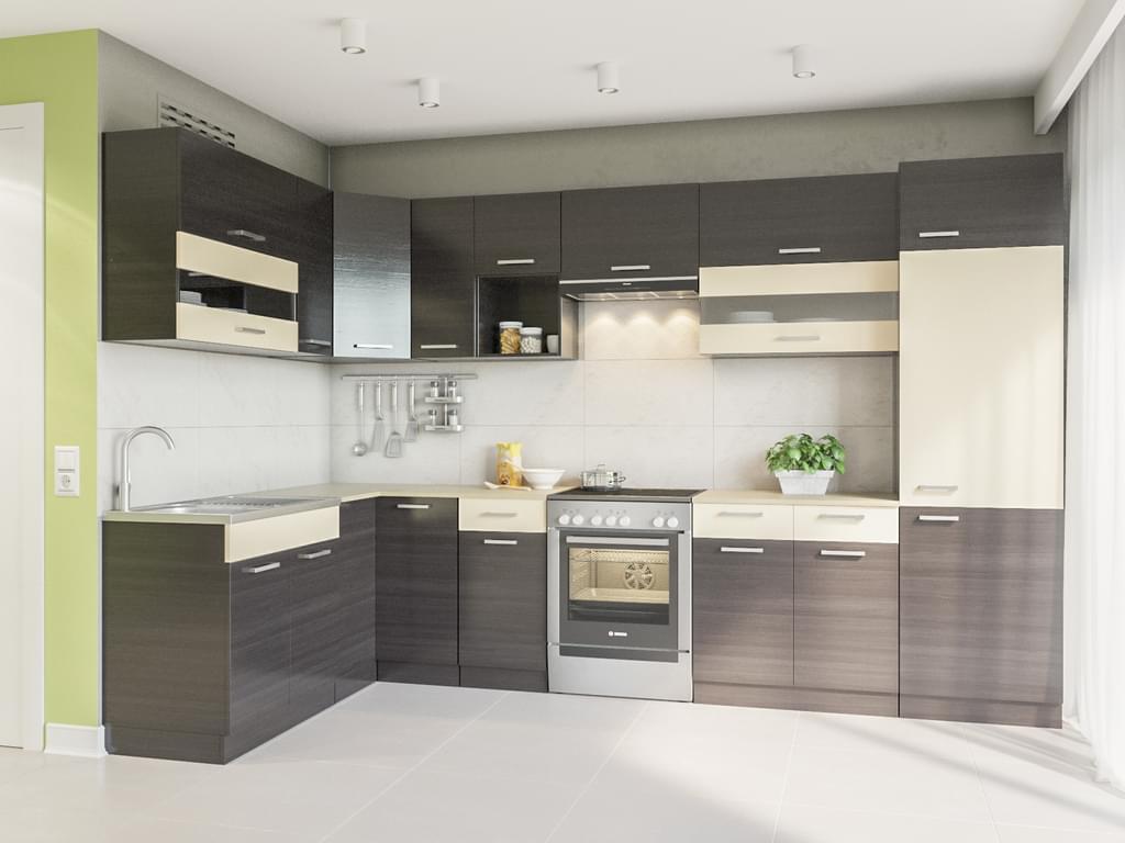Full Size of Real Küchen Winkelkche Alina 330x170 Wenge L Form Kchenzeile Regal Wohnzimmer Real Küchen