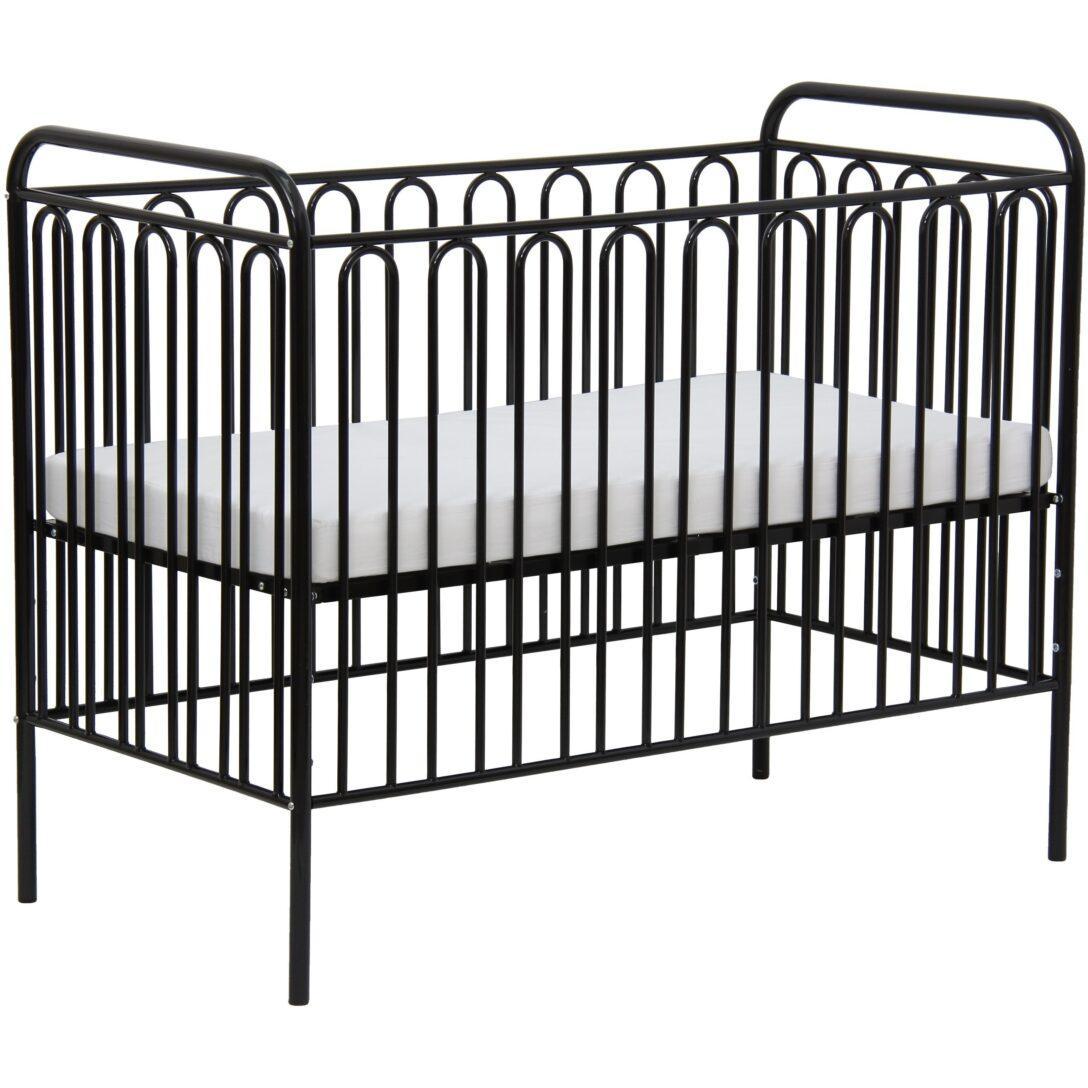Large Size of Babybett Schwarz Kinderbett Gitterbett Aus Metall Polini 150 Schwarze Küche Bett Weiß 180x200 Schwarzes Wohnzimmer Babybett Schwarz