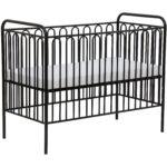 Babybett Schwarz Kinderbett Gitterbett Aus Metall Polini 150 Schwarze Küche Bett Weiß 180x200 Schwarzes Wohnzimmer Babybett Schwarz