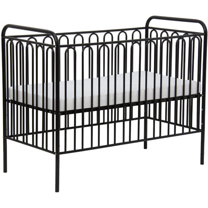 Medium Size of Babybett Schwarz Kinderbett Gitterbett Aus Metall Polini 150 Schwarze Küche Bett Weiß 180x200 Schwarzes Wohnzimmer Babybett Schwarz