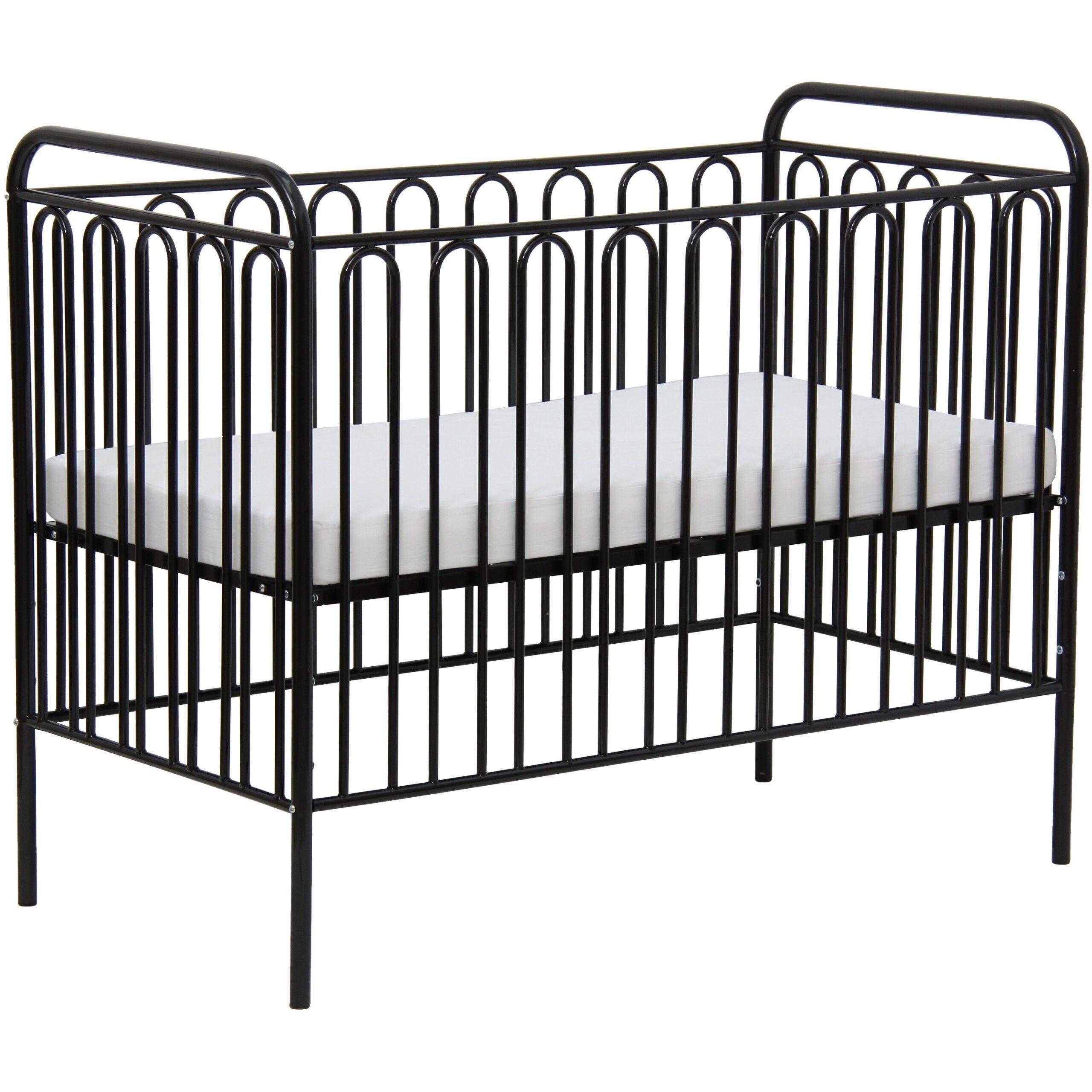 Full Size of Babybett Schwarz Kinderbett Gitterbett Aus Metall Polini 150 Schwarze Küche Bett Weiß 180x200 Schwarzes Wohnzimmer Babybett Schwarz