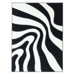 Teppich Schwarz Weiß Mit Konturenschnitt Moda 1452 Flachflor Schlafzimmer Komplett Esstisch Ausziehbar Schwarze Küche Kleines Regal Oval Bad Bett 140x200 Wohnzimmer Teppich Schwarz Weiß