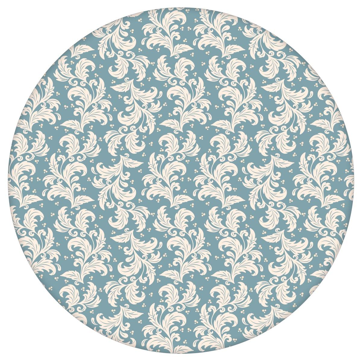Full Size of Ornamenttapete Nostalgie Ranken Mit Blatt Muster In Hellblau Tapeten Für Küche Fototapeten Wohnzimmer Big Sofa Poco Beistelltisch Garten Schlafzimmer Wohnzimmer Tapeten Bei Poco