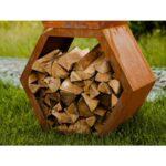 Holzlege Cortenstahl Schne Rost Wabe 6 Eckig Offen Als Sichtschutz Verbaubar Wohnzimmer Holzlege Cortenstahl
