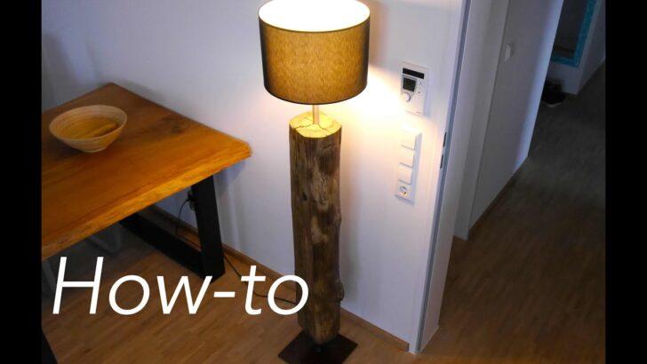 Medium Size of Lampen Holz Selber Machen Lampe Aus Diy Baumstamm Bauen Youtube Betten Landhausstil Spiegellampe Bad Deckenlampen Für Wohnzimmer Badezimmer Stehlampe Wohnzimmer Lampe Aus Holz Selber Machen