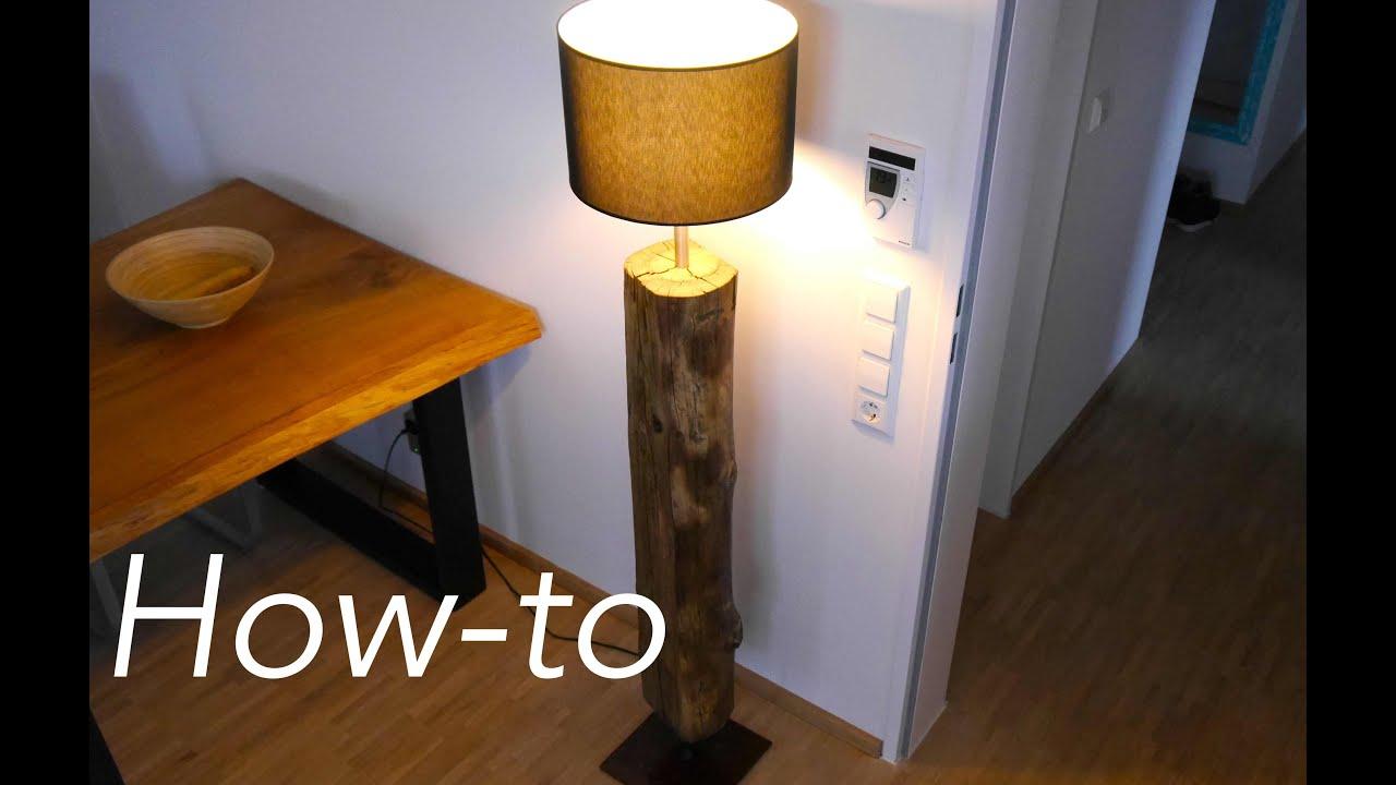 Full Size of Lampen Holz Selber Machen Lampe Aus Diy Baumstamm Bauen Youtube Betten Landhausstil Spiegellampe Bad Deckenlampen Für Wohnzimmer Badezimmer Stehlampe Wohnzimmer Lampe Aus Holz Selber Machen