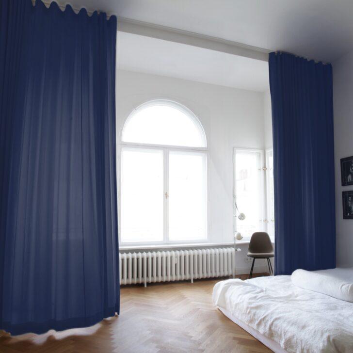 Medium Size of Blauer Vorhang Amelie Mit Schiene Online Bestellen The Vorhänge Schlafzimmer Wohnzimmer Küche Wohnzimmer Vorhänge Schiene