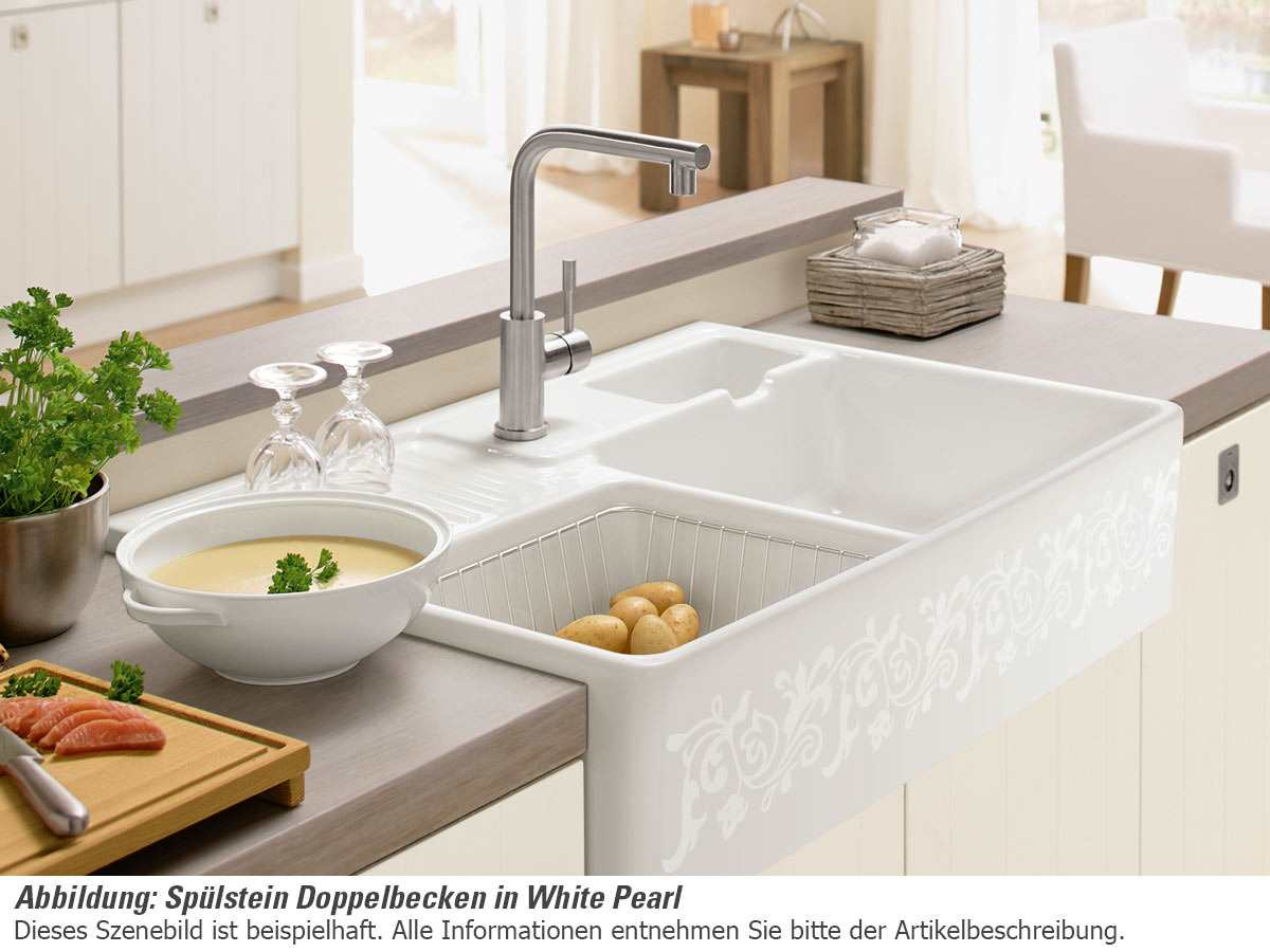 Full Size of Spülstein Villeroy Boch Splstein Doppelbecken White Pearl 6323 91 Kt Wohnzimmer Spülstein
