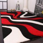 Teppich Schwarz Weiß Designer Rot Teppichcenter24 Schlafzimmer Landhausstil Wohnzimmer Teppiche Küche Bad Hängeschrank Hochglanz Bett 160x200 Für Set Regal Wohnzimmer Teppich Schwarz Weiß
