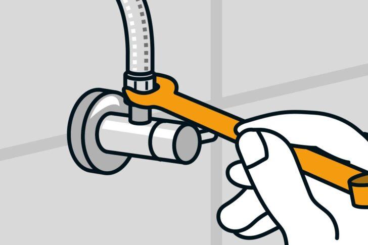 Medium Size of Wasserhahn Anschluss Montieren Anleitung Von Hornbach Bad Küche Wandanschluss Für Wohnzimmer Wasserhahn Anschluss