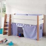 Halbhochbett Mit Stauraum Kinderbett Yumcor Vorhang In Bett 160x200 140x200 Betten 200x200 Wohnzimmer Kinderbett Stauraum