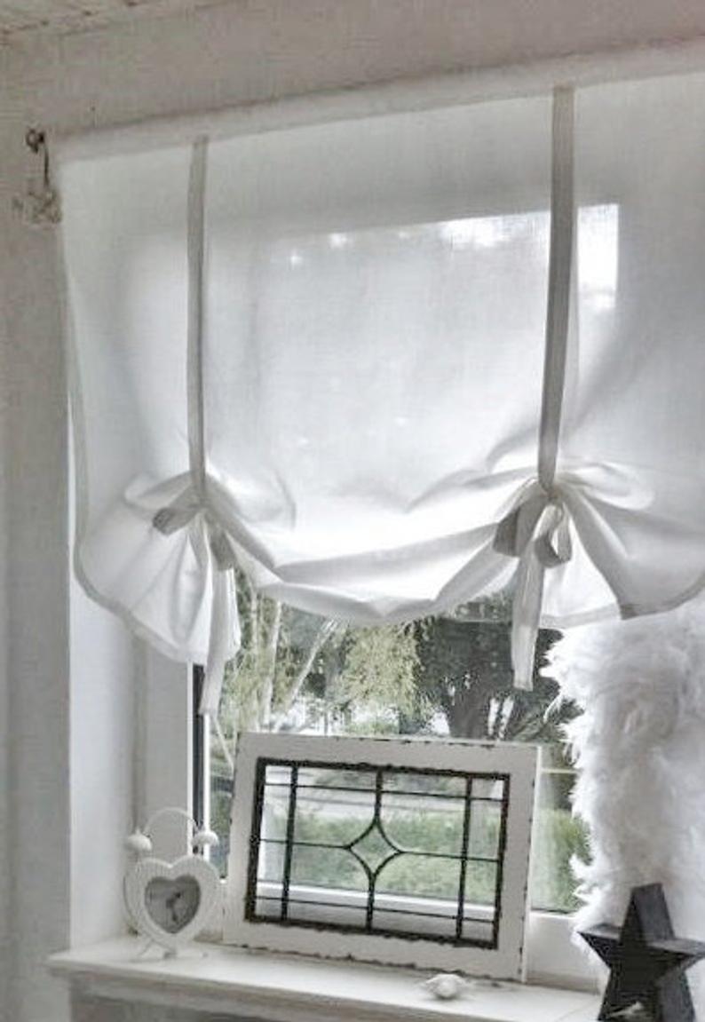 Full Size of Raffrollo Küchenfenster Gardine Shabby Chic Landhaus Etsy Küche Wohnzimmer Raffrollo Küchenfenster