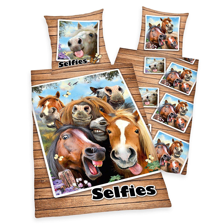 Full Size of Bettwsche Lustige Pferde Selfies Pony Rappen Geschenk 140 200 Wandsprüche Bettwäsche Sprüche Wandtattoos Coole T Shirt Jutebeutel T Shirt Wohnzimmer Bettwäsche Lustige Sprüche