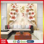 Wohnzimmer Wandbild Grohandel Tapete 3d Lilie Blume Fresko Textur Wandbilder Indirekte Beleuchtung Kamin Led Deckenleuchte Deckenleuchten Schrank Sofa Kleines Wohnzimmer Wohnzimmer Wandbild