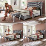 Boxspringbett Samt Wohnzimmer Barock Boxspringbett Montana Samt Gnstig Online Kaufen 180x200cm Schlafzimmer Set Mit Sofa