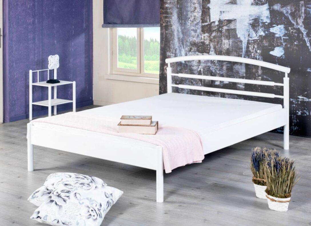 Large Size of Metallbett 100x200 Ella Wei Mit Schlichtem Kopfteil Verschiedene Gren Bett Weiß Betten Wohnzimmer Metallbett 100x200