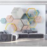 Schlafzimmer Wand Minimalistische Geometrische Wandtattoo Komplett Mit Lattenrost Und Matratze Wandlampe Glaswand Küche Set Lärmschutzwand Garten Kosten Wohnzimmer Deko Schlafzimmer Wand