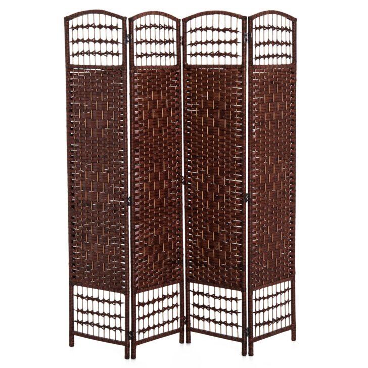 Medium Size of Homcom Paravent Raumteiler Bambus Braun Aosomde Garten Bett Wohnzimmer Paravent Bambus