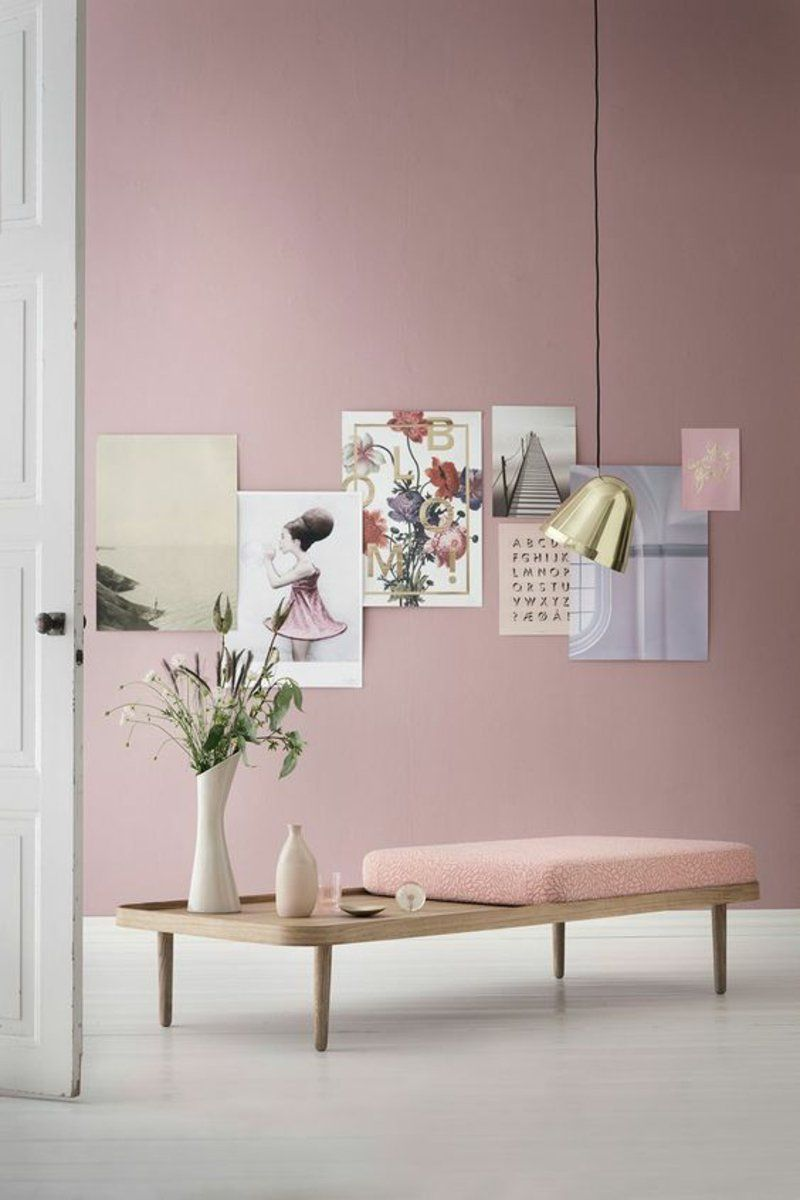 Full Size of Wandfarbe Rosa Skandinavisches Design 120 Stilvolle Ideen In Bildern Küche Wohnzimmer Wandfarbe Rosa