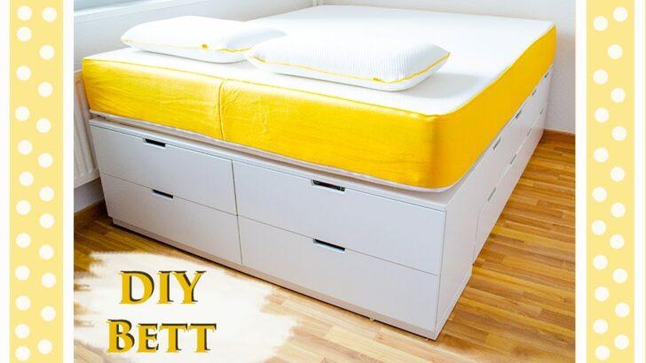 Podestbett Ikea Hack Bett Bauen Einfaches Diy Tutorial Fr Ein Plattform Modulküche Miniküche Betten Bei Sofa Mit Schlaffunktion 160x200 Küche Kosten Kaufen Wohnzimmer Podestbett Ikea
