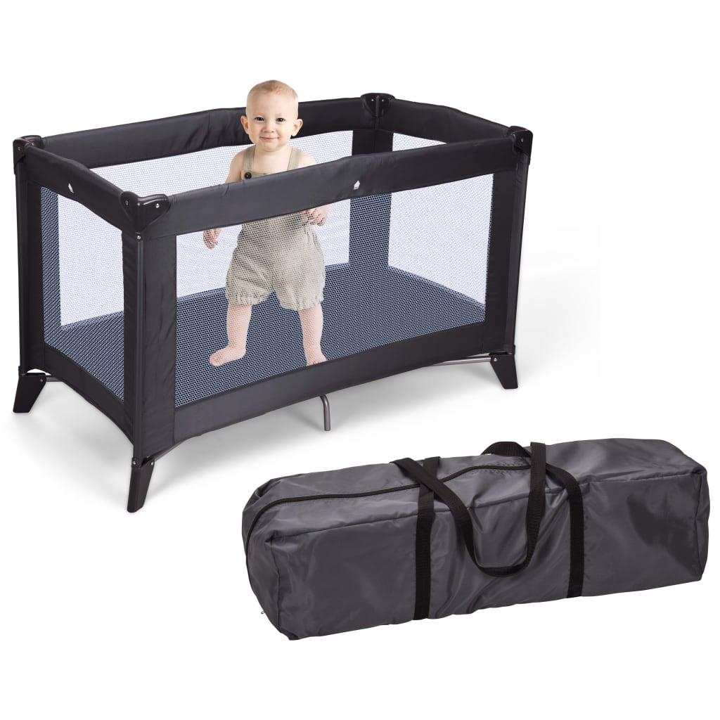 Full Size of Homeampstyling Klappbares Babybett Mit Matratze Dunkelgrau Bett 180x200 Schwarz Weiß Schwarzes Schwarze Küche Wohnzimmer Babybett Schwarz