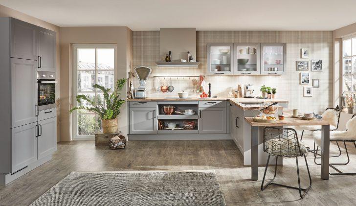 Medium Size of Küchen Quelle Landhaus Einbaukche Norina 7684 Steingrau Kchenquelle Regal Wohnzimmer Küchen Quelle