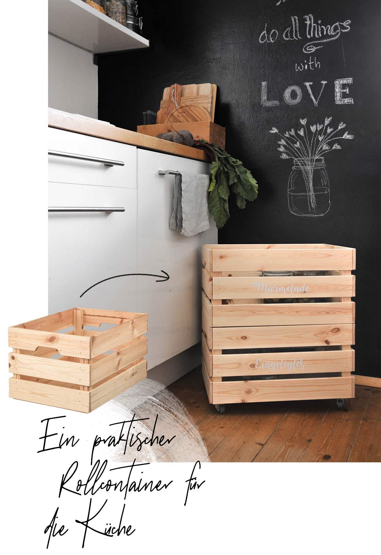 Full Size of Kisten Küche Toller Ikea Hack Einen Rollcontainer Selber Bauen Wohnklamotte Klapptisch Abfallbehälter Billige Anthrazit Kosten Schwarze Rolladenschrank Wohnzimmer Kisten Küche
