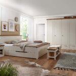 Luxus Schlafzimmer Komplett Modern Weiss Massiv Set Provence Bett Kleiderschrank Nachtschrank Mit Lattenrost Und Matratze Stehlampe Kommode Rauch Deko Wohnzimmer Schlafzimmer Komplett Modern