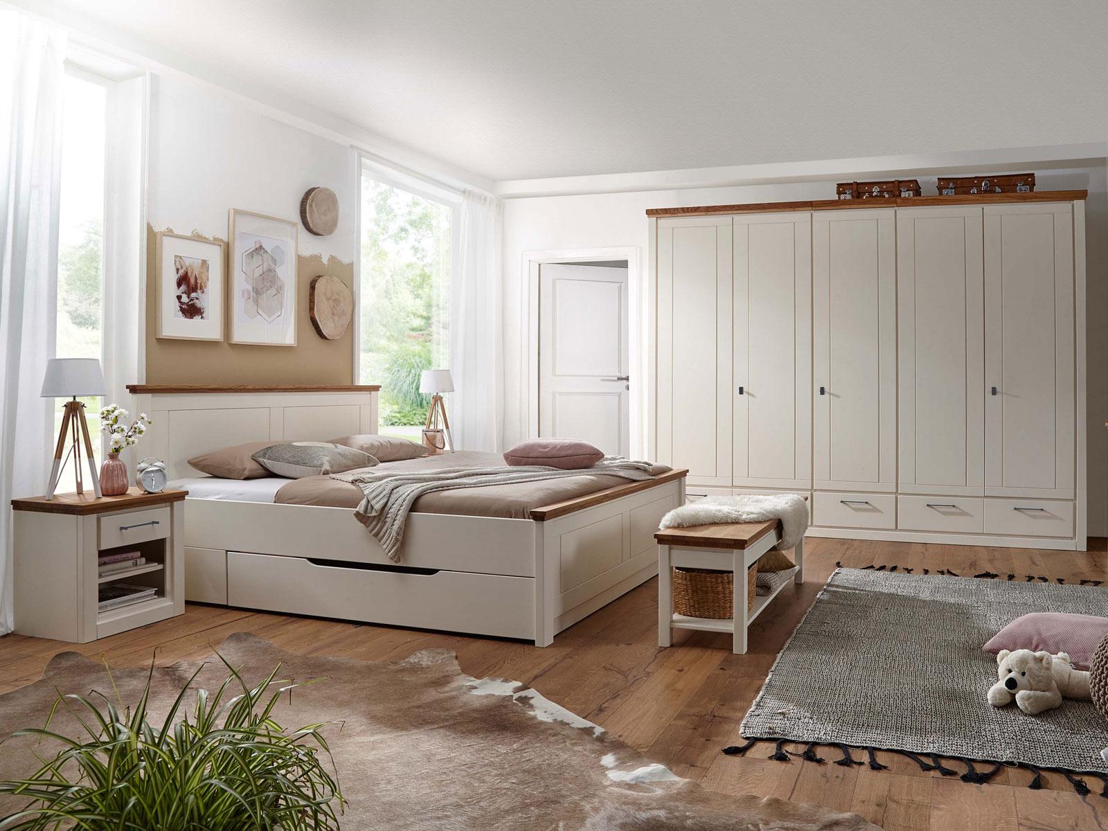 Full Size of Luxus Schlafzimmer Komplett Modern Weiss Massiv Set Provence Bett Kleiderschrank Nachtschrank Mit Lattenrost Und Matratze Stehlampe Kommode Rauch Deko Wohnzimmer Schlafzimmer Komplett Modern