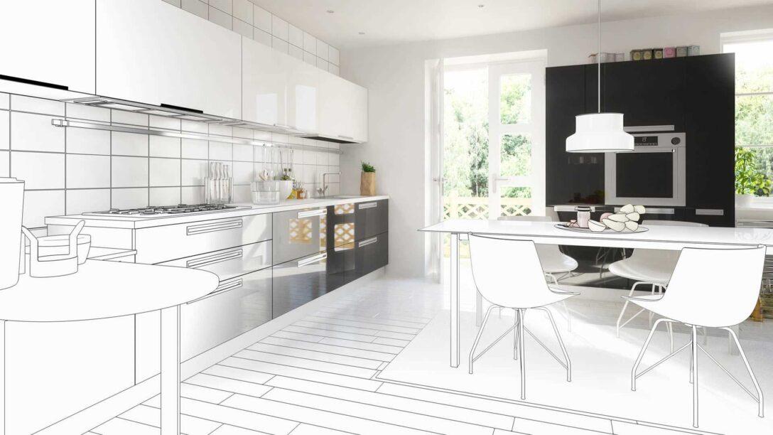Large Size of Freistehende Küchen Offene Oder Geschlossene Kche Ratgeber Gibt Entscheidungshilfe Regal Küche Wohnzimmer Freistehende Küchen
