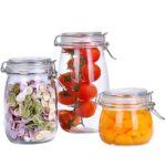 Glasversiegelte Glser Küchen Regal Aufbewahrungsbehälter Küche Wohnzimmer Küchen Aufbewahrungsbehälter