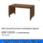Gartentisch Ikea Gebrauchte Pplar Tisch Und 4 Sthle In Baden Küche Kosten Betten Bei 160x200 Sofa Schlaffunktion Kaufen Wohnzimmer Gartentisch Ikea